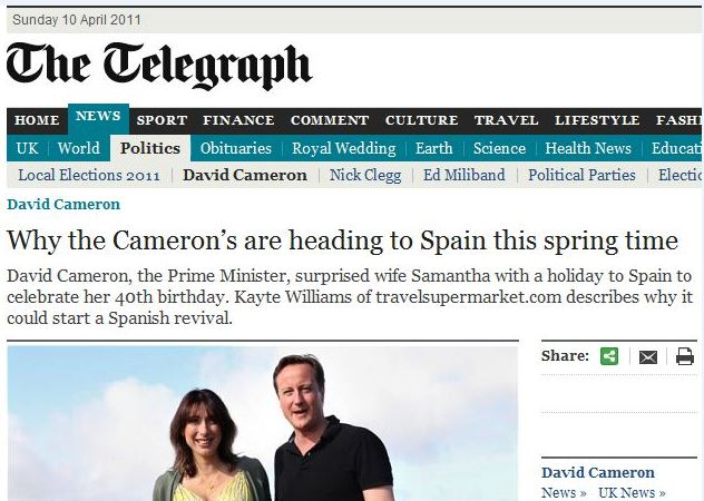 Telegraph headline possessive apostrophe