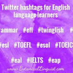 Twitter hashtags for English language learners
