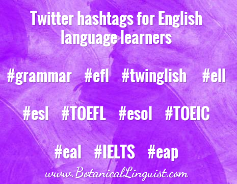 twitter hashtags for English learners