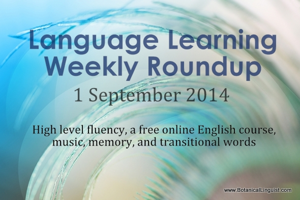 Weekly language learning roundup 1 September 2014