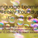 Weekly language learning roundup – September 15, 2014