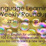 Weekly language learning roundup – September 22, 2014