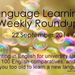 Weekly language learning roundup – September 22, 2014