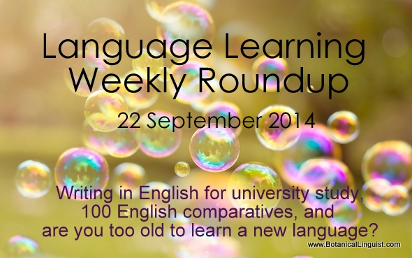 Language learning roundup 22 September 2014