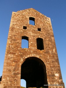 Cornish engine house. English lessons in Cornwall